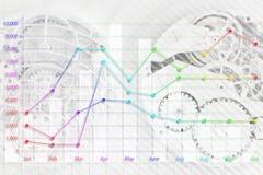 抽象时钟和企业图表 向量例证