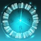 抽象时钟背景-概念性传染媒介 免版税库存图片
