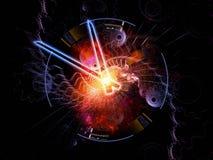 抽象时钟表单 免版税库存图片