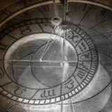 抽象时钟黄道带 免版税库存照片