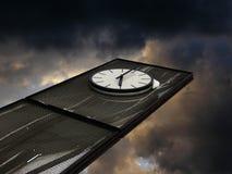 抽象时钟 免版税库存照片