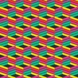 抽象时髦几何无缝的样式设计 现代的传染媒介 免版税库存照片