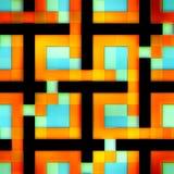 抽象明亮的发光的五颜六色的形状无缝的纹理  库存图片