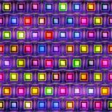 抽象明亮的发光的五颜六色的形状无缝的纹理  图库摄影