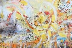 抽象明亮的画笔绘画 免版税库存图片