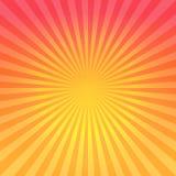 抽象明亮的红色橙色梯度发出光线背景 传染媒介EPS 10 cmyk 库存图片