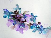 抽象明亮的色的装饰背景 手工制造花卉的样式 兰花美丽的嫩浪漫花束开花,疯狂 免版税图库摄影