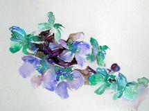 抽象明亮的色的装饰背景 手工制造花卉的样式 兰花美丽的嫩浪漫花束开花,疯狂 库存图片