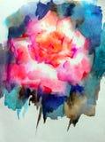 抽象明亮的色的装饰背景 手工制造花卉的样式 美丽的嫩浪漫不可思议的花,做在 免版税图库摄影