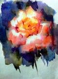 抽象明亮的色的装饰背景 手工制造花卉的样式 美丽的嫩浪漫不可思议的花,做在 免版税库存图片