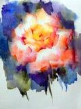 抽象明亮的色的装饰背景 手工制造花卉的样式 美丽的嫩浪漫不可思议的花,做在 免版税库存照片