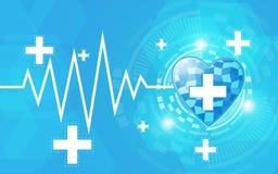 抽象明亮的医疗保健概念背景 免版税库存照片