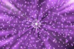 抽象星在紫色背景中炸开 向量例证