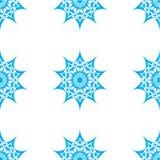 抽象星形无缝的模式 库存照片