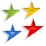 抽象星形状信息图表元素 免版税库存图片