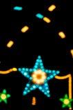 抽象星形状bokeh光夜 库存照片