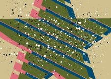 抽象星形背景 免版税库存照片