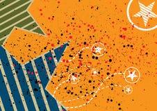 抽象星形背景 免版税图库摄影