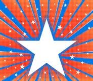 抽象星爆炸背景 免版税库存照片