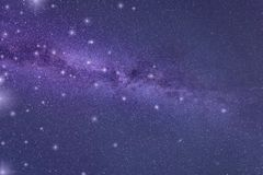 抽象星系背景,紫外概念-年的颜色2018年 免版税库存图片