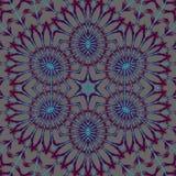 抽象星装饰品浅灰色的紫色蓝色 向量例证
