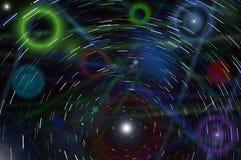 抽象星跟踪天空 免版税图库摄影