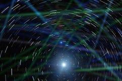 抽象星跟踪天空 免版税库存照片