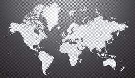 抽象映射世界 向量例证