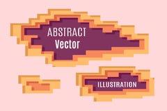 抽象映象点分层堆积 库存图片