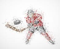 抽象曲棍球运动员 免版税库存照片