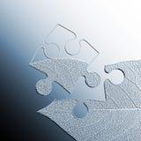 抽象曲线锯的叶子 库存图片