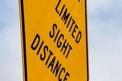 抽象有限的瞄准距离标志 库存照片