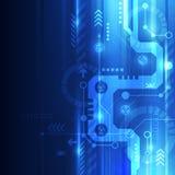抽象未来技术概念背景,传染媒介例证 免版税图库摄影
