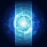 抽象未来技术概念背景,传染媒介例证 免版税库存照片