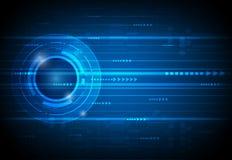 抽象未来数字式科学技术概念