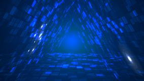 抽象未来派三角数据隧道透视背景 库存例证