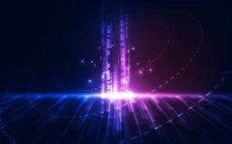 抽象未来派数字技术背景 例证传染媒介 皇族释放例证