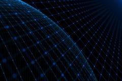 抽象未来派空间网络背景 库存照片