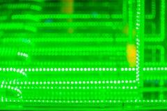 抽象未来派绿色被带领的光背景 眨眼睛绿色 图库摄影