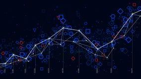 抽象未来派infographic,经济情况统计大数据注标形象化 库存例证