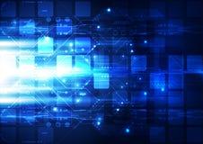 抽象未来通讯技术,例证背景 免版税库存照片