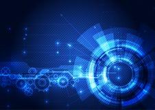 抽象未来派数字技术背景 例证传染媒介 库存照片
