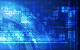 抽象未来派数字技术背景 例证传染媒介 免版税图库摄影