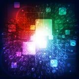抽象未来派数字技术背景 例证 图库摄影