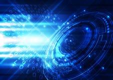 抽象未来派数字技术背景 例证 免版税图库摄影