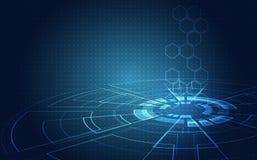 抽象未来派电路板,例证高计算机数字技术概念,传染媒介背景