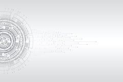 抽象未来派电路板 皇族释放例证
