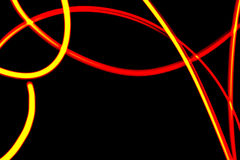 抽象未来派红色和黄色霓虹背景 库存照片