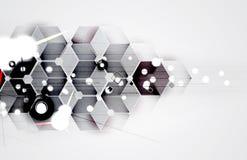 抽象未来派退色计算机科技企业背景 图库摄影
