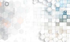抽象未来派退色计算机科技企业背景 免版税图库摄影